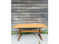 Mid Century Ercol Refectory Side Table Golden Dawn Gold Label