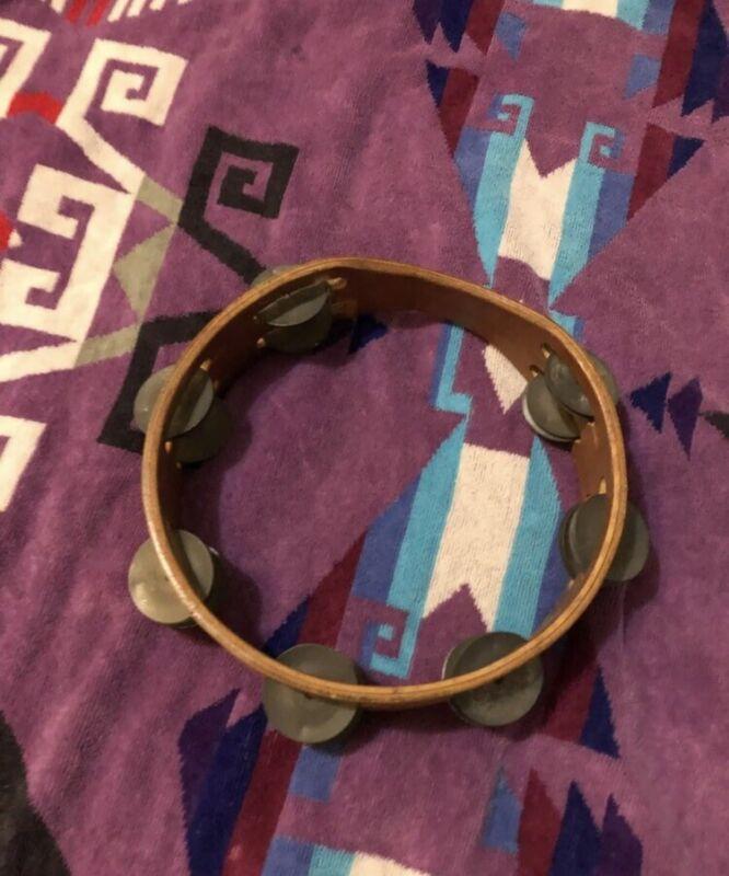 Vintage antique tambourine no.8
