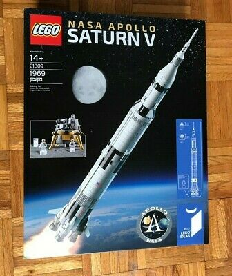 LEGO 21309 Ideas NASA Apollo Saturn V NEW SEALED IN BOX, RETIRED SET