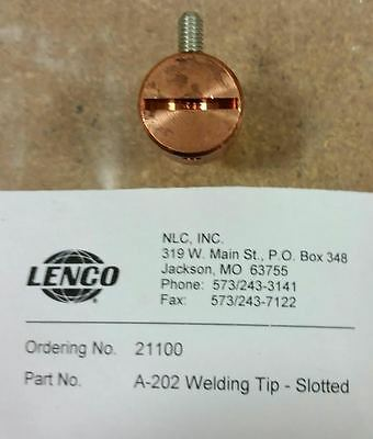 Lenco 21100 A-202 Spot Welding Tip Slotted