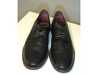 Real Leather IRONT, leather Derby shoes, size 8