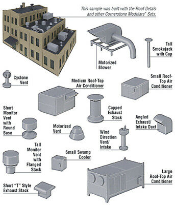 Walthers Cornerstone HO Scale Building/Structure Kit Roof Details