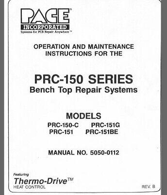 Pace Inc. Manual Solder Desolder Work Station Prc-150c Pps-100c Digital Format