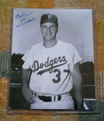 ED ROEBUCK 8x10 Autographed Photo Los Angeles DODGERS ER1