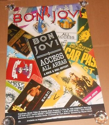 Bon Jovi Access All Areas Promo Original Poster 24x36