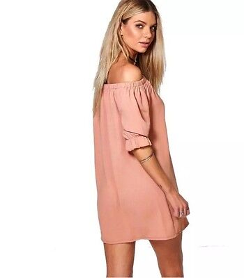 New Women's Summer Casual Short Sleeve Evening Party Cocktail Mini Dress,M