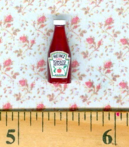 Dollhouse Miniature Size Ketchup Bottle