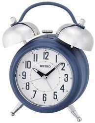 Seiko Classic Bell Alarm Clock Blue QHK051LLH