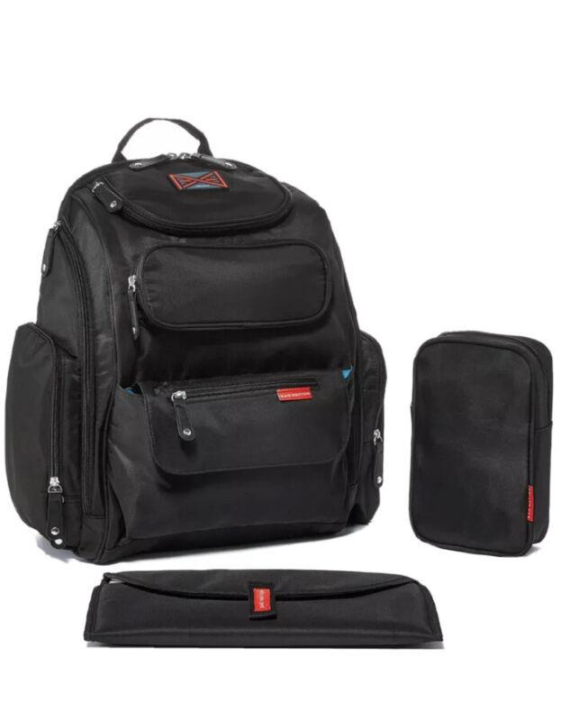 Bag Nation Diaper Bag Backpack: Large Capacity Black Unisex Baby Bag