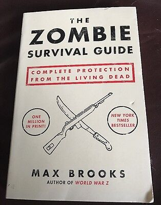 THE ZOMBIE SURVIVAL ZOMBIE SURVIVAL GUIDE MAX BROOKS PAPERBACK NICE