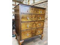 Burr walnut chest of drawers