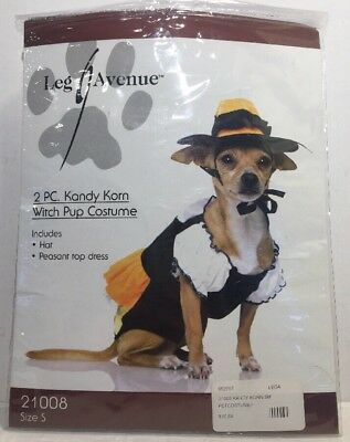 Candy Corn Witch Puppy Dog Halloween Costume/ Dress Up Fur Baby Dog - Baby Puppy Dog Costume