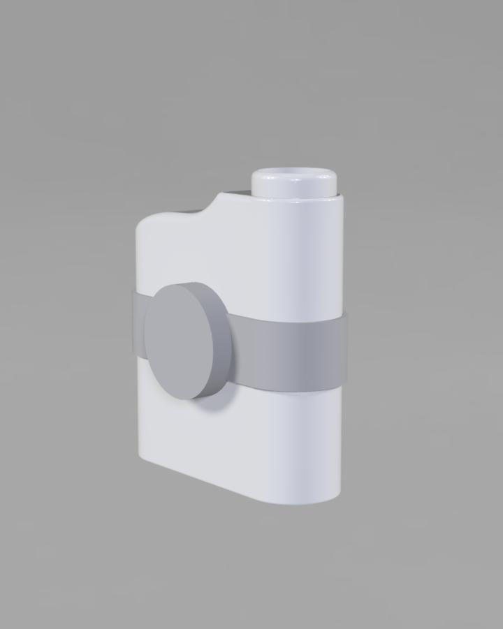 Magnetic Rangefinder Strap | Holder - GRAY - rubber with str