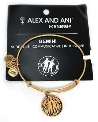 Gemini Twins Symbol (Alex and Ani Gemini II Zodiac Symbol Rafaelian Gold Wire Bangle Bracelet NEW )