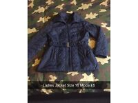 Ladies Quilted Moda Jacket Size 16