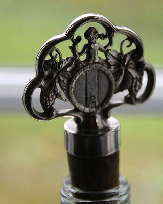 antik Stöpsel Bacchus Flaschen Korken 90er Silber Zierkorken Flaschenstöpsel