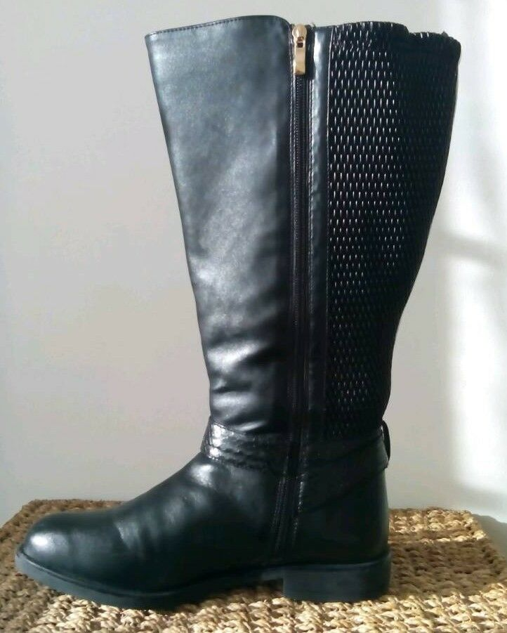83db44aa2c1 Long Black Wide Fitting Boots Boots size 7.