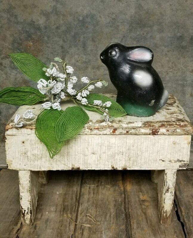 Antique Vintage Easter Rabbit Bunny Garden Basket 1950