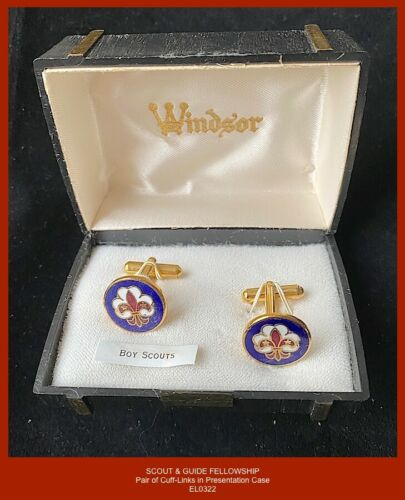 c.1996 Scout & Guide Fellowship quality enamelled Cuff-Links in Presentation Box