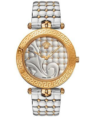 Versace Women's VK7230015 Vanitas 2017 Collection Two Tone Quilted Effect Watch