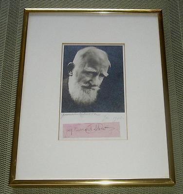 Original GEORGE BERNARD SHAW Autograph + Signed Photograph by GERMAINE KAHN 1940