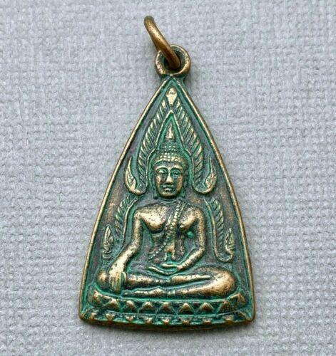 Triangular Green Patina Amulet Pendant From Thailand (SAP3)
