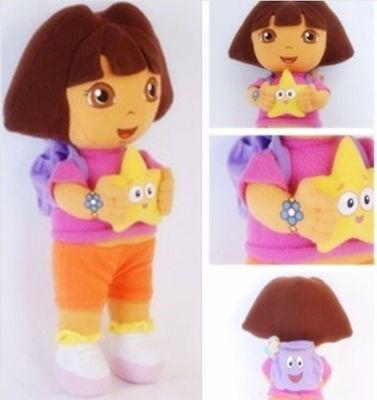 New DORA THE EXPLORER Kids Girls Soft Cuddly Stuffed Plush Toy Doll 25cm