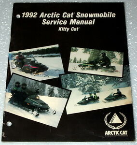 1992-ARCTIC-CAT-KITTY-CAT-SNOWMOBILE-Original-Factory-Shop-Service-Repair-Manual