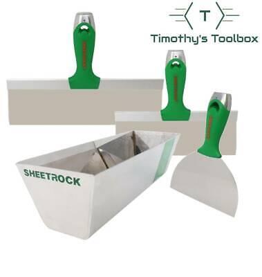 Usg Sheetrock Classic Stainless Steel Drywall Taping Knife Set 6-10-12 W Pan