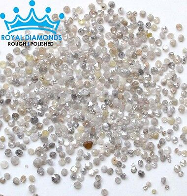 1 Cts  100  Natural Loose Round Single Cut Scrap Breakout White Diamonds 2 00Mm