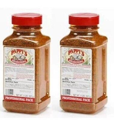 (2 Bottles of Pappy's Choice Seasoning 4 LB of BBQ RUB Smoker Spice Ribs Pappys)