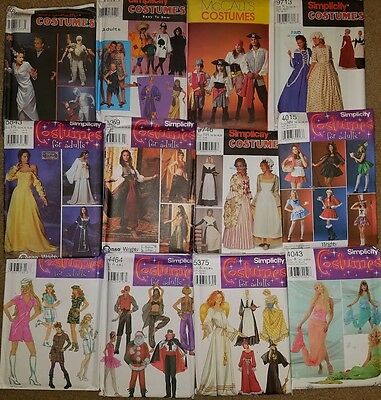 HALLOWEEN COSTUME SEWING PATTERNS ~ MEN, WOMEN, KIDS ~ PIRATE GYPSY CHARACTERS++