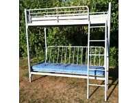 High sleeper bed with futon/double bed