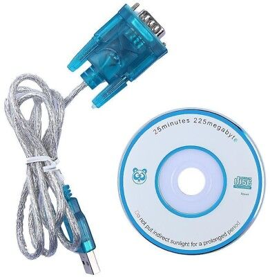 3ft DB9 RS232 Serial to USB 2.0 Converter 9 Pin Adapter Cable CD -