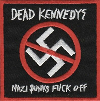 Dead Kennedys Nazi Punks F*ck Off Embroidered Patch D032P Napalm Death Misfits