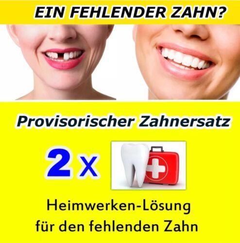 2x Provisorischer Zahnersatz Zahnprothese Aktionspack🆕