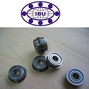 10 Stk. IBU Miniatur Kugellager mit Bund / Flanschlager  MF105 ZZ  5x10x4 mm
