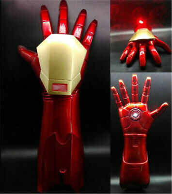 1:1 The Avengers Iron Man Stark Updated Glove LED Light Hand with Laser Cos Gift (Iron Man Hands)