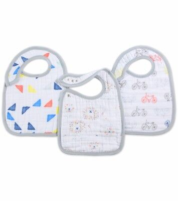 Aden & Anais 3 Leader of the Pack Snap Bibs Easy to use Bib Three ()