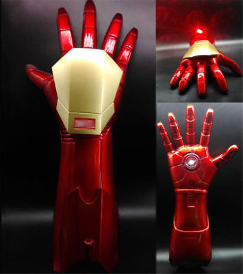 The Avengers Iron Man 1:1 Stark Updated Glove LED Light Hand With Laser Cos Prop (Iron Man Hands)