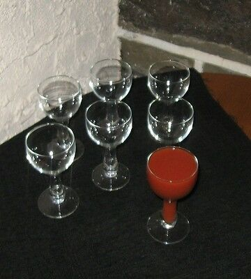 Hollow stem wine glasses nice lot of 7 Fun glass!