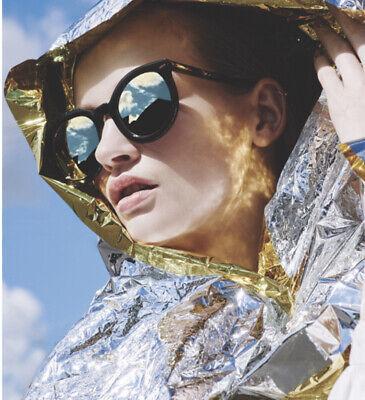 Karen Walker Sunglasses Super Duper Black Gold Over Sized Large