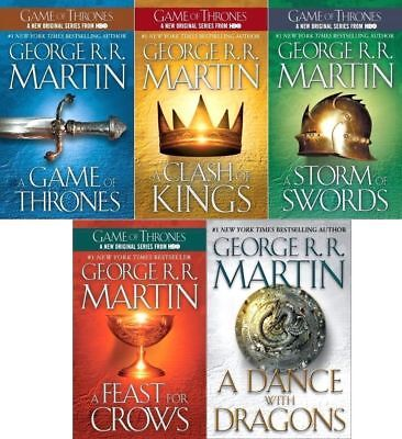 Game of Thrones 1-5 set George RR Martin PB lot A Song of Ice and Fire series  ()