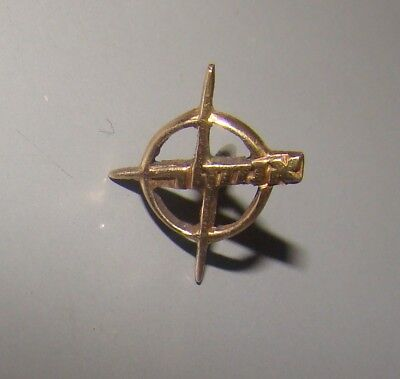 RARE Jewish Vintage Israel AMCOR 14K Gold Pin Badge Tadiran Electric Company