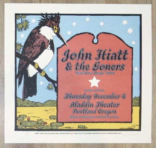 2001 John Hiatt - Portland Silkscreen Concert Poster S/N by Gary Houston