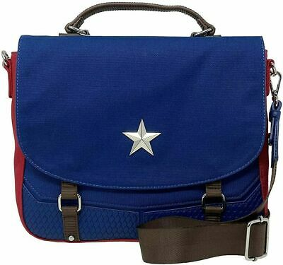 LOUNGEFLY MARVEL CAPTAIN AMERICA BAG - MVTB0091 - BRAND NEW WITH TAGS