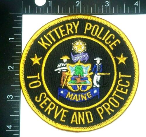 KITTERY POLICE DEPARTMENT MAINE PATCH (PD 9) SHOULDER INSIGNIA