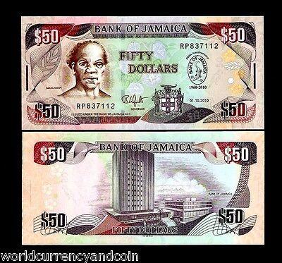 JAMAICA 50 DOLLARS P88 2010 COMMEMORATIVE BOAT DOCTOR CAVE BIRD UNC BANK NOTE