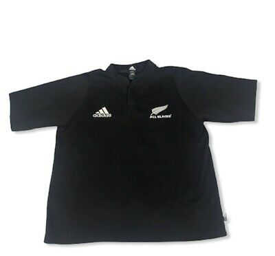 Adidas All Blacks Rugby Shirt L Medium Official New Zealand Home Black Jersey