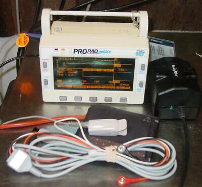 Welch Allyn Propaq Encore 202 El Spo2 Ecg Patent Monitor Ecg Spo2 Nibp